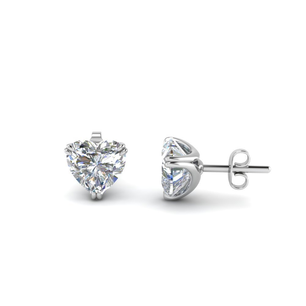 2 Carat Diamond Heart Mom Earring
