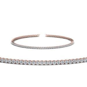 2 Carat Diamond Tennis Bracelet In 14K Rose Gold