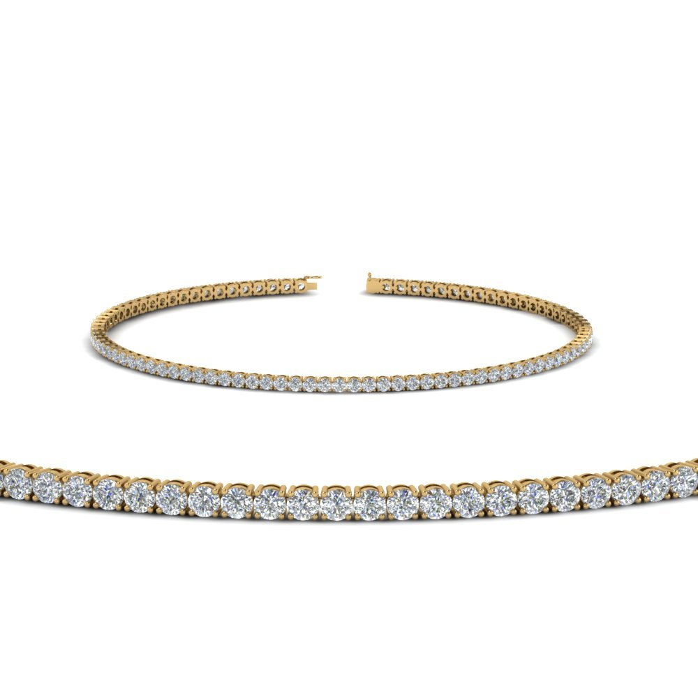 2 Carat Diamond Tennis Bracelet In 14K Yellow Gold