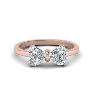 2 Carat Heart Diamond Ring In Rose Gold