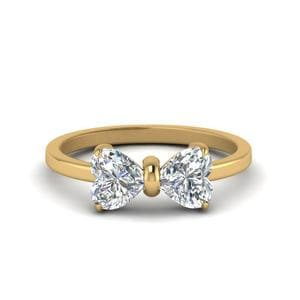 2 Carat Heart Diamond Ring In Yellow Gold