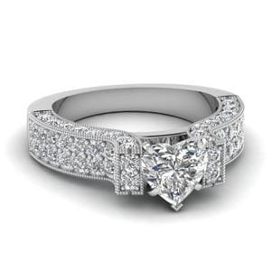 2 Carat Diamond Pave Vintage Ring