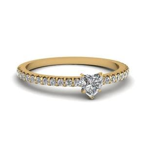 2 Carat Heart Diamond Petite Ring