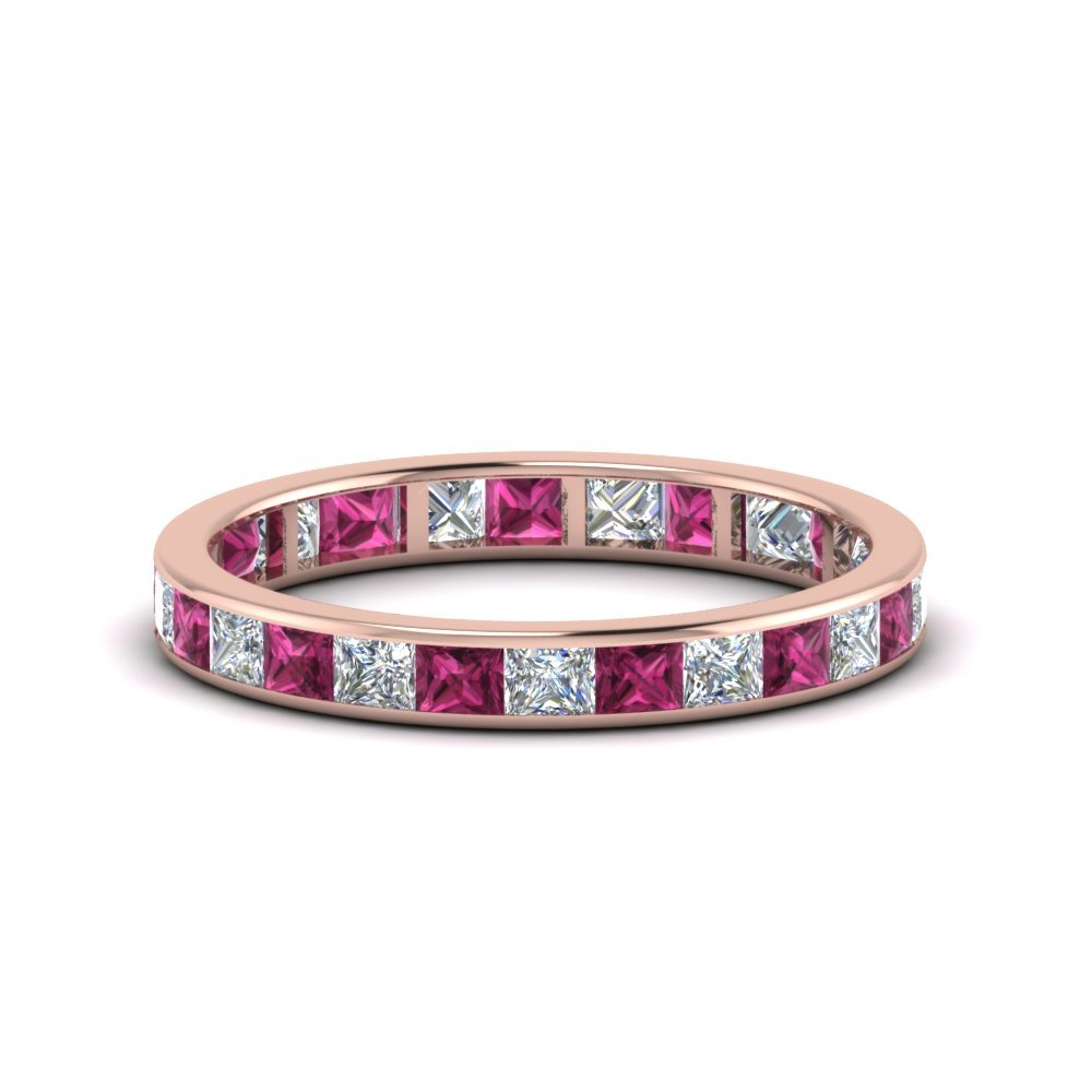 Eternity Band With Pink Sapphire 2 Ct.