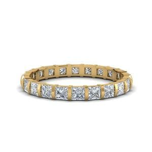 2 Ct. Diamond Bar Set Eternity Ring In 18K Yellow Gold