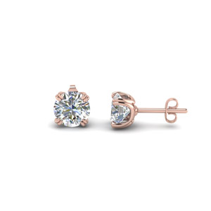 2 Ctw. Round Diamond Earrings