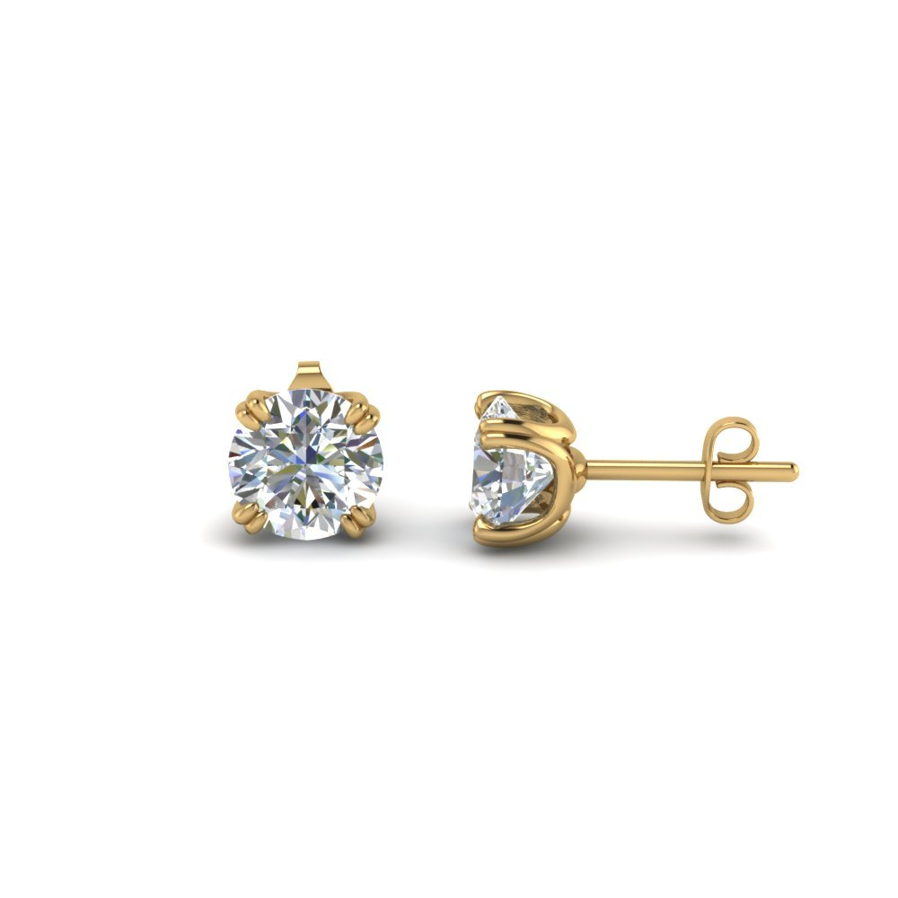 2 Ct. Round Diamond Earring