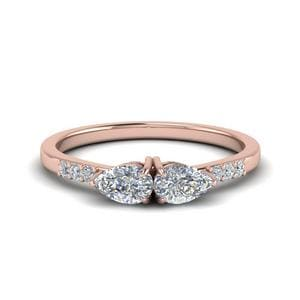 2 Pear Diamond Ring For Women