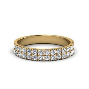 18K Yellow Gold U Prong Diamond Band