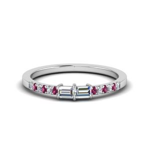 2 Stone Baguette Diamond Promise Ring