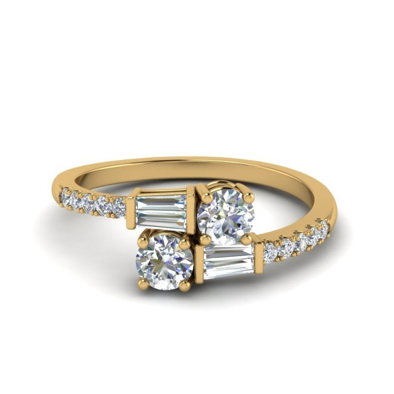 Modern Diamond Wedding Rings