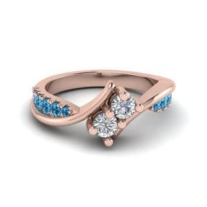 Topaz Alternate Diamond Ring