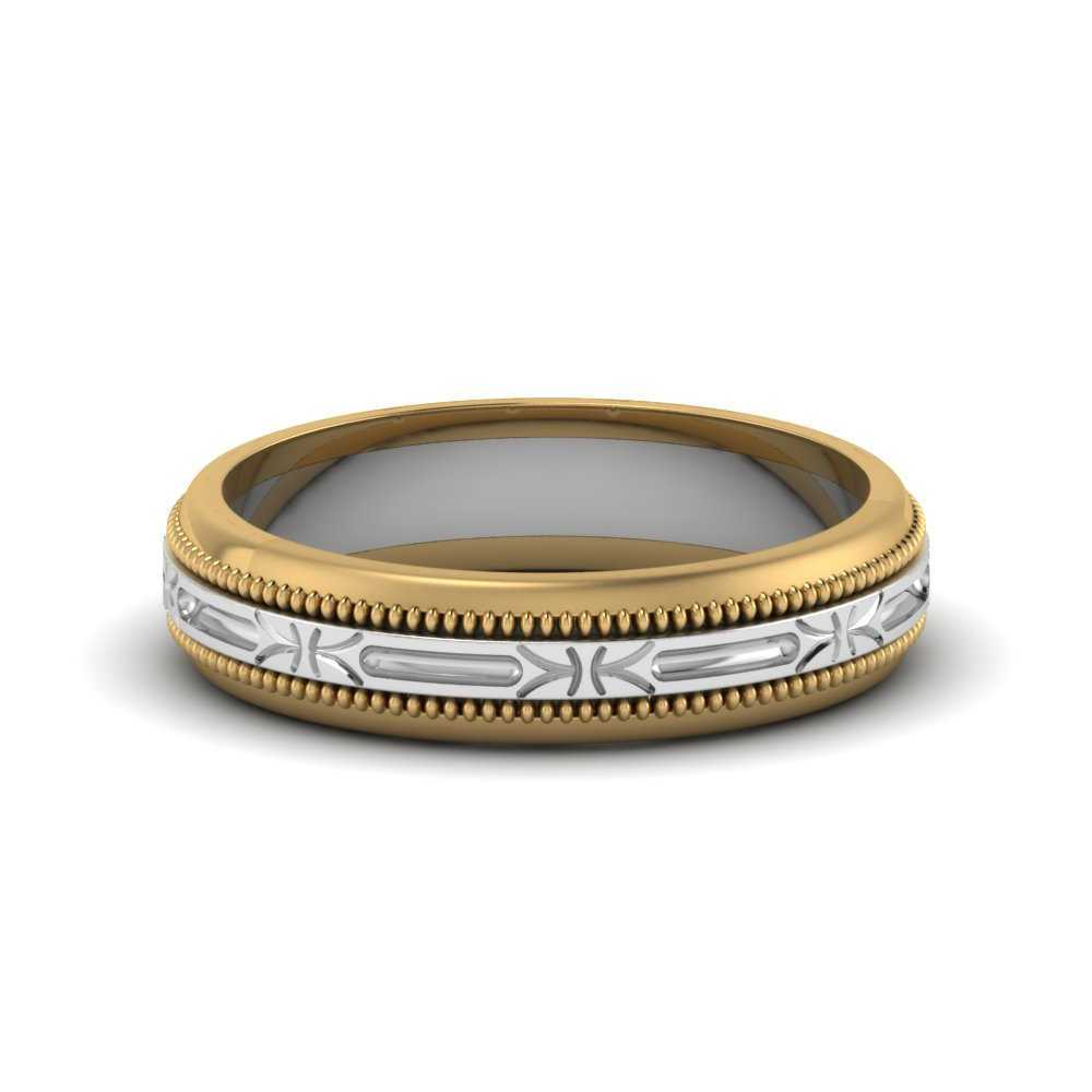 Two tone Antique Design Wedding Band