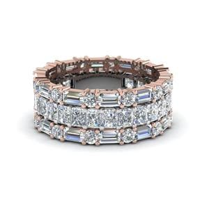 Radiant Cut Stackable Eternity Band