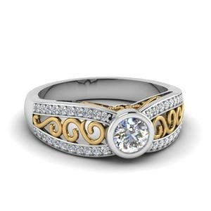 2 Tone Filigree Ring