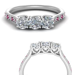 2.25 Carat Pave Pink Sapphire Band