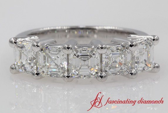 2.5 Ct. Diamond 5 Stone Wedding Band