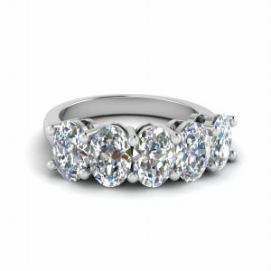 2.5 Carat Oval Cut Anniversary Band