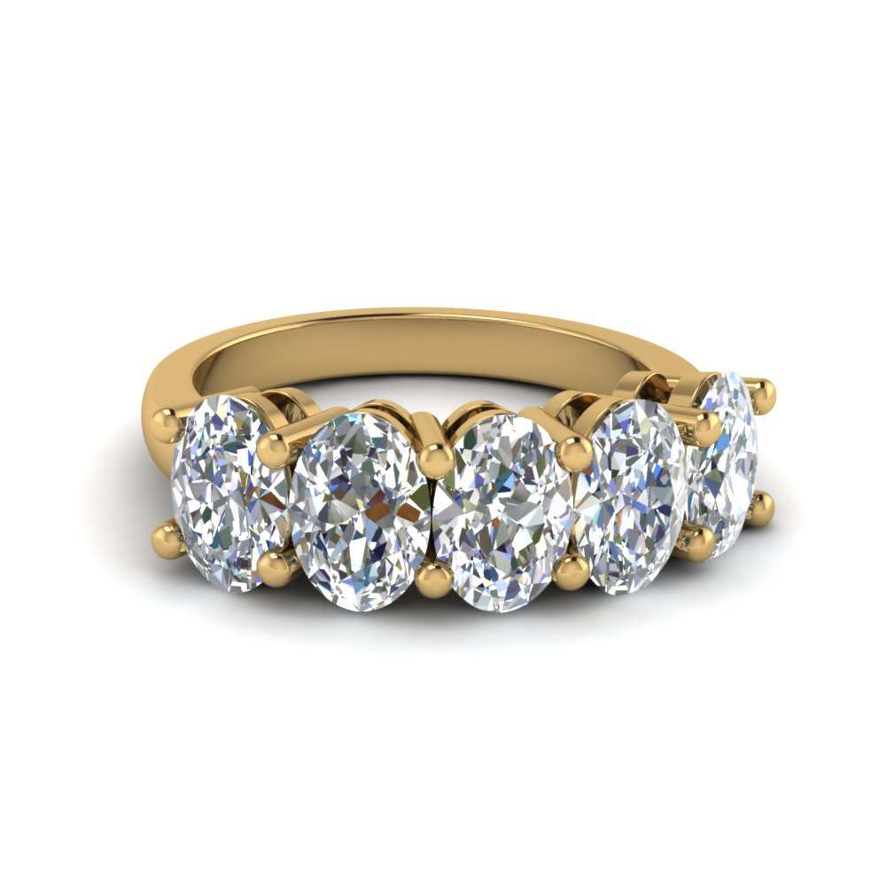 2.5 Ct. Oval Diamond Anniversary Five Stone Ring