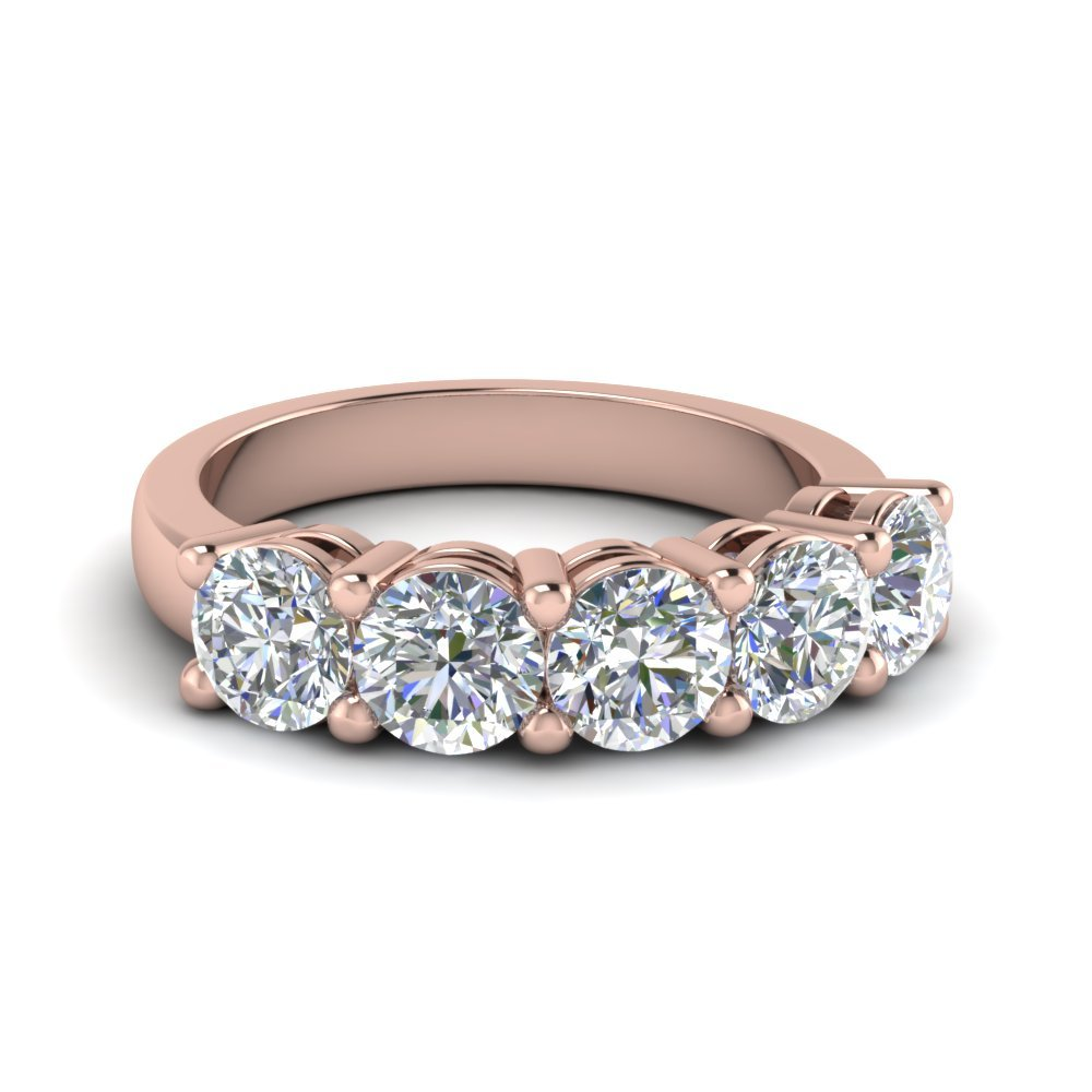 14K Rose Gold Wedding Anniversary Band