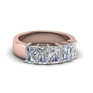 2.5 Ct. Radiant Five Stone Wedding Band