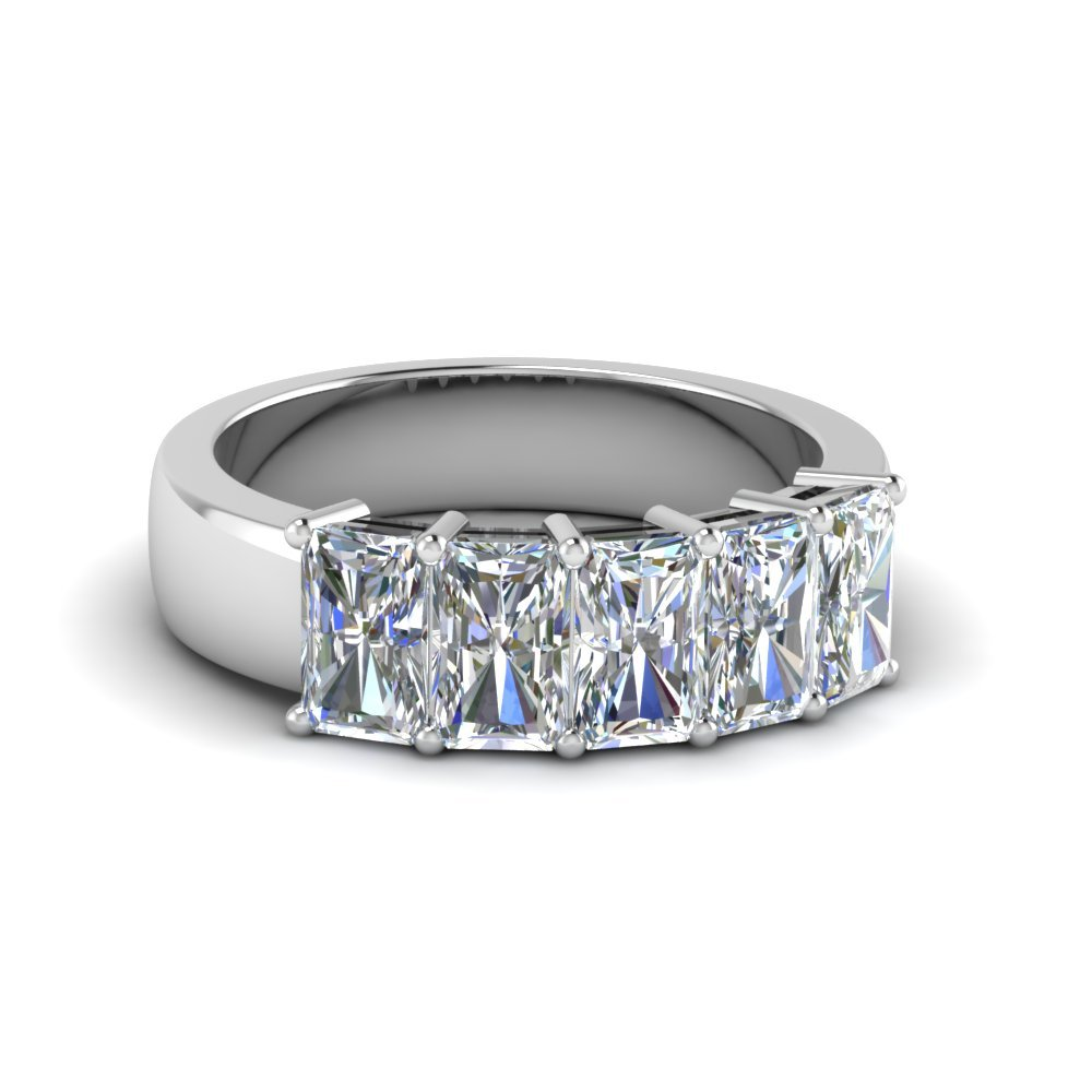 2.5 Ct. Diamond Radiant 5 Stone Band