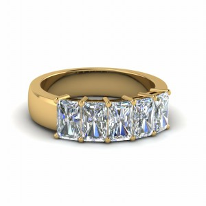 2.50 Ctw. Diamond Radiant Wedding Band