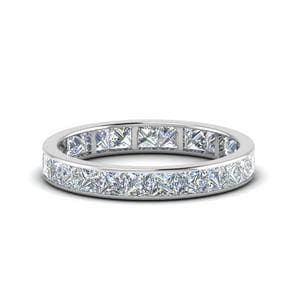 2.50 Carat Princess Cut Eternity Band