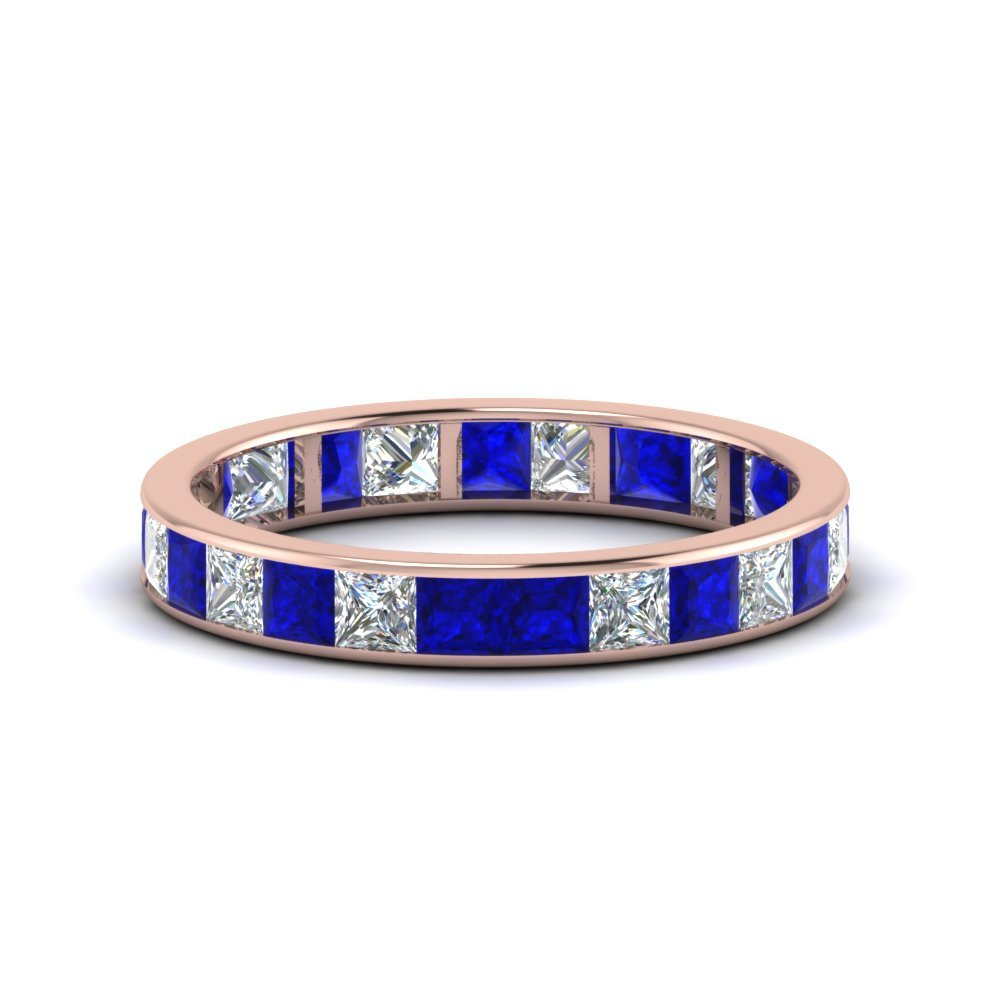 2.50 Ct. Princess Channel Eternity Band