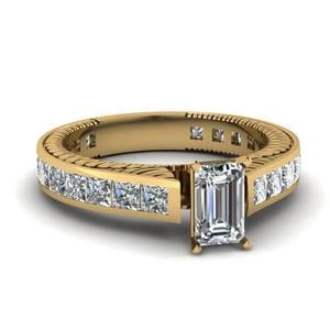 2.50 Ct. Diamond Vintage Channel Set Ring