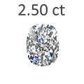 2.50 Carat Cushion Cut Diamond