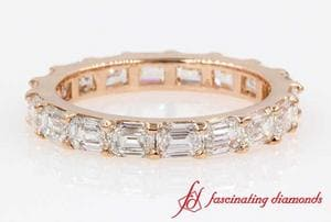 2.6 Karat Emerald Cut Diamond Eternity Band