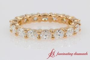 3 Carat Oval Diamond Eternity Ring In 18k Rose Gold