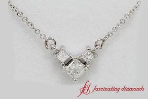 3 Diamond Pendant In 18k