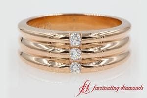 3 Stone Wedding Anniversary Band