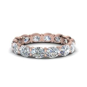 18K Rose Gold Oval Shaped Eternity Band