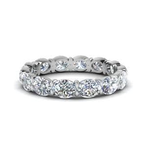18K White Gold 3 Carat Wedding Band