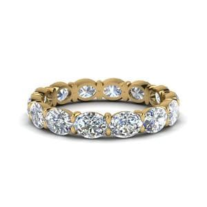18K Yellow Gold 3 Carat Band For Woman