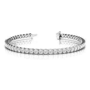 3 Carat Round Diamond Tennis Eternity Bracelet In 14K White Gold