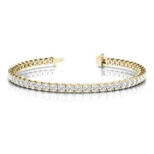 Round Diamond Tennis Eternity Bracelet