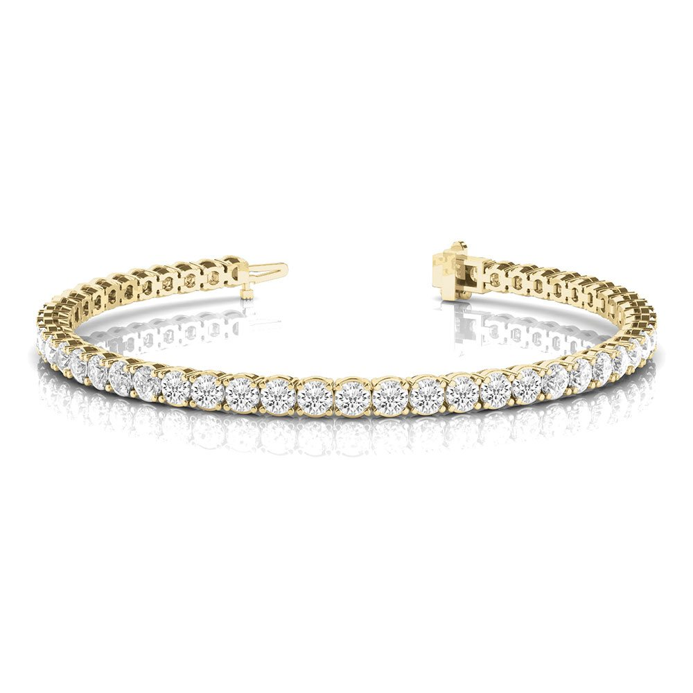 18K Yellow Gold Tennis Eternity Bracelet