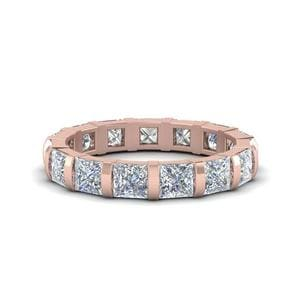 3 Ct. Princess Diamond Bar Set Band