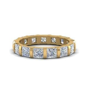 3 Ct. Diamond Bar Set Eternity Band