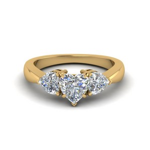 3 Hearts Engagement Ring