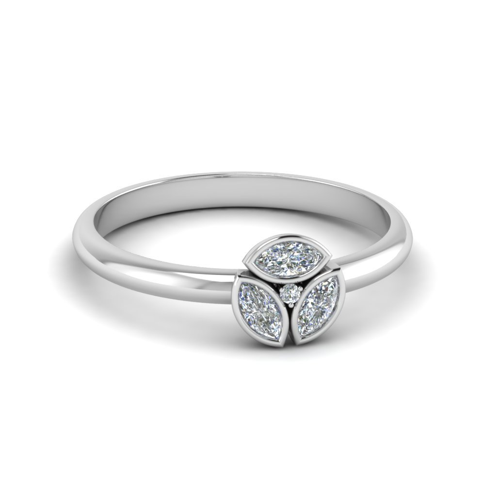 3 Marquise Diamond Ring For Women
