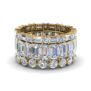 7.25 Ct. 3 Piece Stack Eternity<br> Band