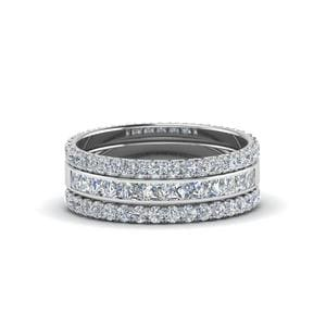 3 Piece Stackable Eternity Band In 950 Platinum