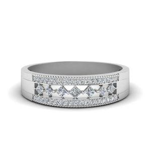 3 Row Diamond Anniversary Band In 950 Platinum