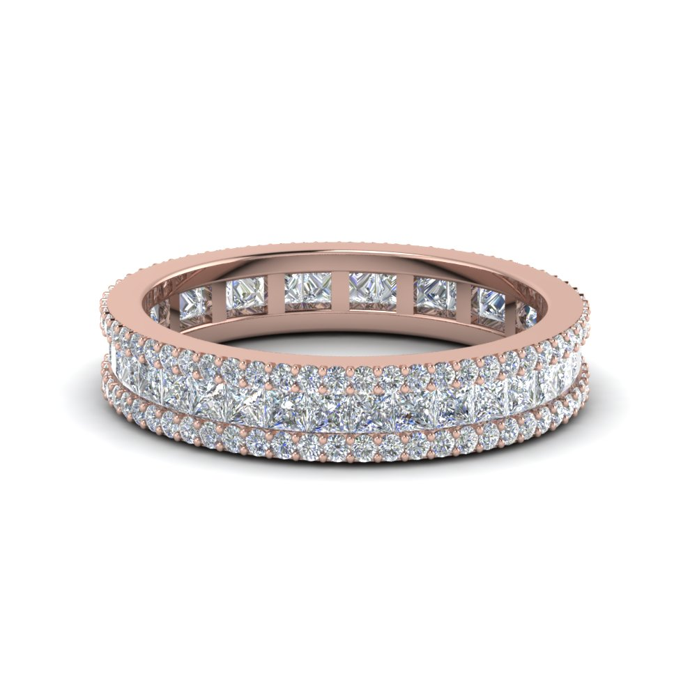 1.25 Ct. 3 Row Diamond Eternity Ring