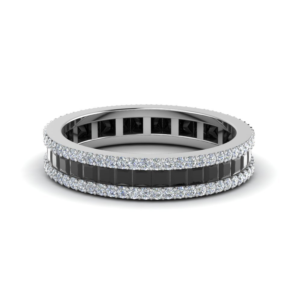 band wedding pav egan products corey thin bands eternity half paria diamond black pave